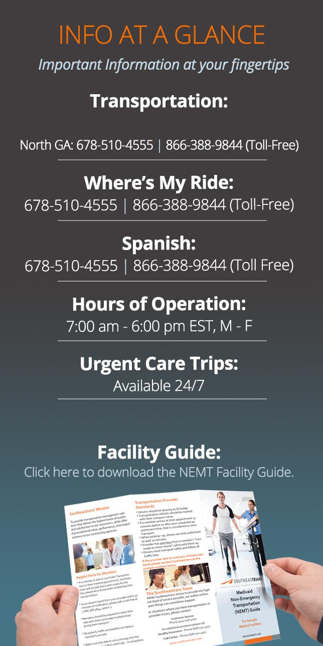 Georgia Facilities Info-at-a-glance
