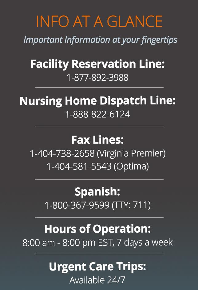 Virginia Facilities 2 Info-at-a-glance